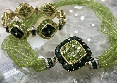 Jewelry - Bellarri peridot _ tourmaline set